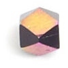 "Glass Cut Cube Facetted Bead 4X4mm 16"" Jet/Multi Iris"